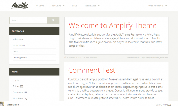 Amplify-WordPress
